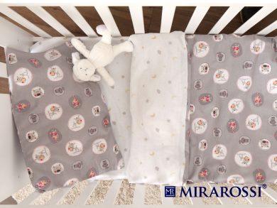 Постельное белье для новорожденных Amici grey, фото 3