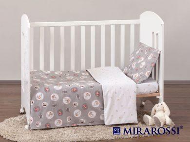 Постельное белье для новорожденных Amici grey, фото 8