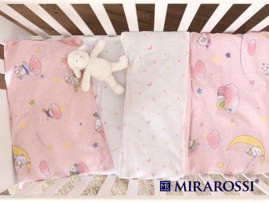 Постельное белье для новорожденных Овечки розовые, фото 3