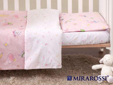 Постельное белье для новорожденных Овечки розовые, фото 6