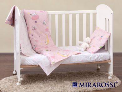 Постельное белье для новорожденных Овечки розовые, фото 7