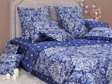 Постельное белье Дамаск индиго, фото 2