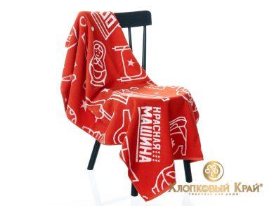 Полотенце банное 140х70 см Красная Машина сувенир, фото 2
