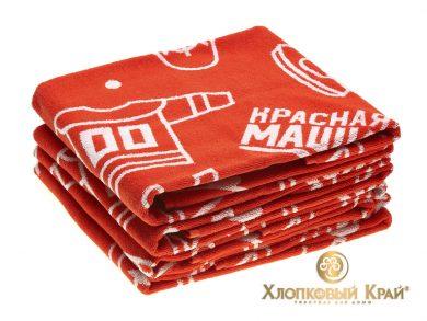 Полотенце банное 140х70 см Красная Машина сувенир, фото 3