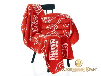 Полотенце банное 140х70 см Красная Машина сувенир, фото 6