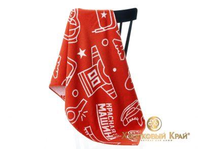 Полотенце банное 140х70 см Красная Машина сувенир, фото 8