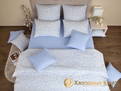 Постельное белье Эмма голубой, фото 3