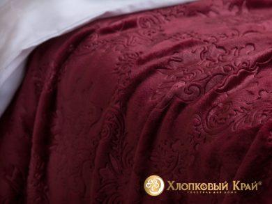 Плед велсофт Парма бордо, фото 3
