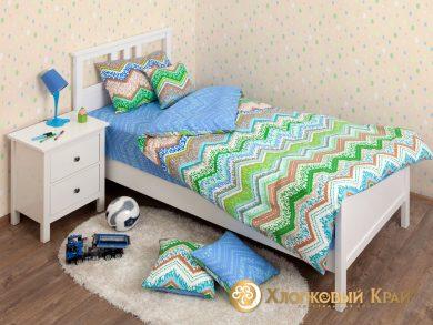 Детское постельное белье Zigzag green, фото 3