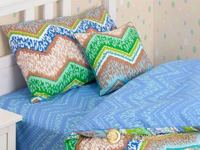Детское постельное белье Zigzag green, фото 4
