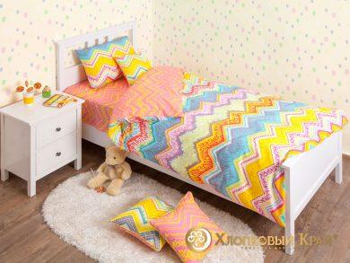 Детское постельное белье Zigzag orange, фото 3