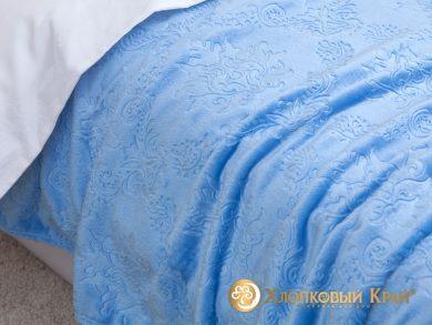 Плед велсофт Парма голубой, фото 3