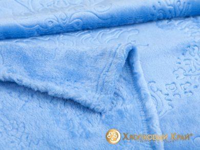 Плед велсофт Парма голубой, фото 2