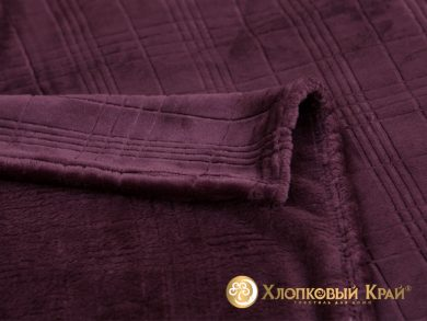 Плед велсофт Парма фиолет клетка, фото 2