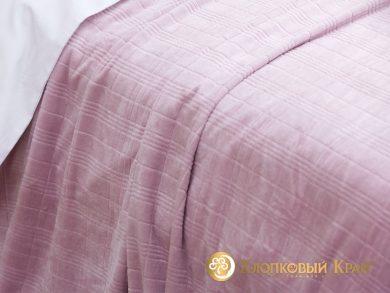 Плед велсофт Парма роза клетка, фото 3