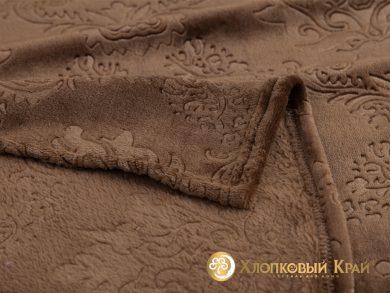 Плед велсофт Парма шоколад, фото 2