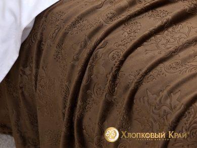 Плед велсофт Парма шоколад, фото 3