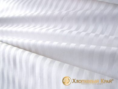 простыня на резинке страйп-сатин белая, фото 4