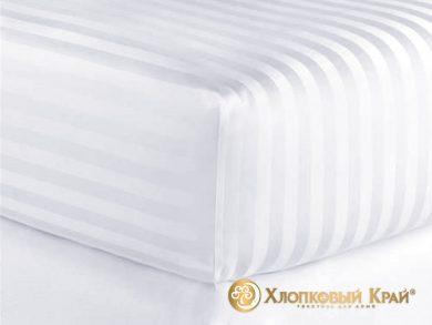Постельное белье страйп-сатин белое, фото 5