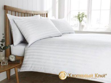 Постельное белье страйп-сатин белое, фото 8