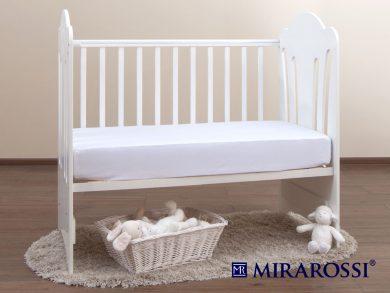 простыня на резинке в детскую кроватку Белая, фото 2