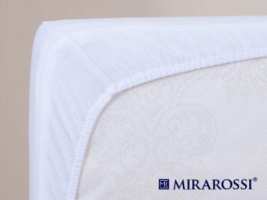 простыня на резинке в детскую кроватку Белая, фото 4