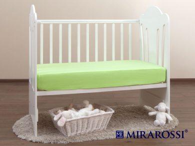 простыня на резинке в детскую кроватку Лайм, фото 2