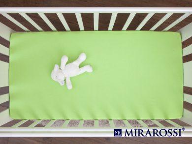 простыня на резинке в детскую кроватку Лайм, фото 3