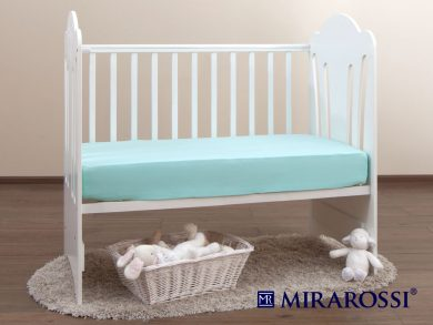 простыня на резинке в детскую кроватку Ментол, фото 2