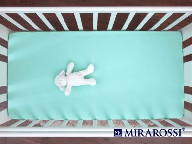 простыня на резинке в детскую кроватку Ментол, фото 3