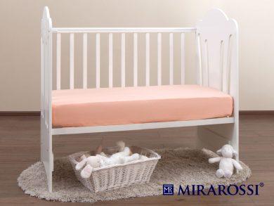 простыня на резинке в детскую кроватку Персик, фото 2