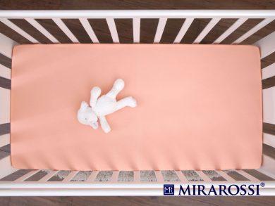 простыня на резинке в детскую кроватку Персик, фото 3