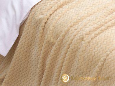 Плед велсофт Парма плюш персик, фото 3