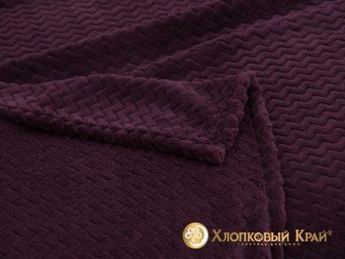 Плед велсофт Парма плюш пурпур, фото 2