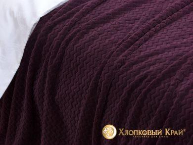 Плед велсофт Парма плюш пурпур, фото 3