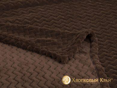 Плед велсофт Парма плюш шоколад, фото 2