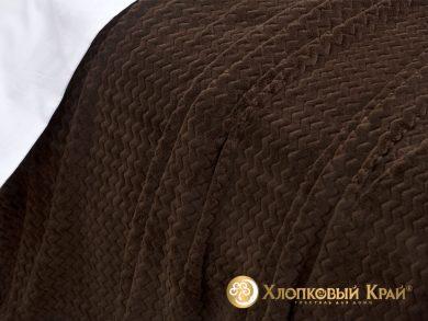 Плед велсофт Парма плюш шоколад, фото 3