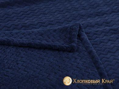 Плед велсофт Парма плюш темно-синий, фото 2