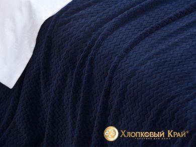 Плед велсофт Парма плюш темно-синий, фото 3