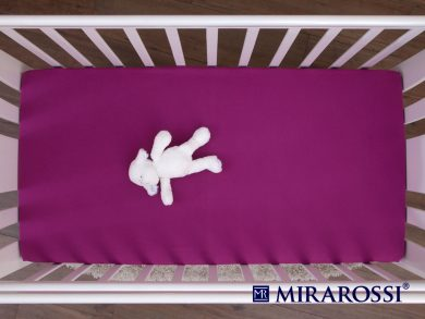 простыня на резинке в детскую кроватку Фиолет, фото 3