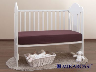 простыня на резинке в детскую кроватку Шоколад, фото 2