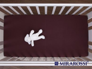 простыня на резинке в детскую кроватку Шоколад, фото 3
