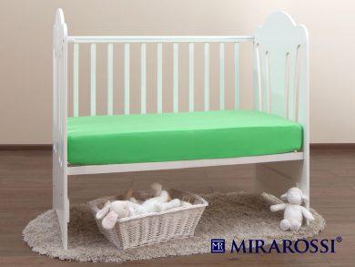 простыня на резинке в детскую кроватку Зеленое яблоко, фото 2