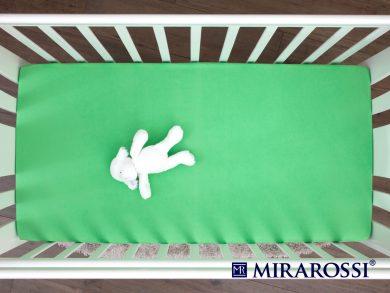 простыня на резинке в детскую кроватку Зеленое яблоко, фото 3