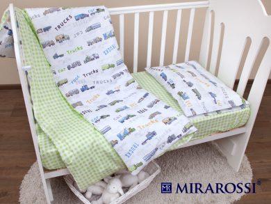 Постельное белье для новорожденных Trucks, фото 7
