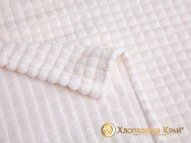 Плед велсофт Парма молоко квадрат, фото 2