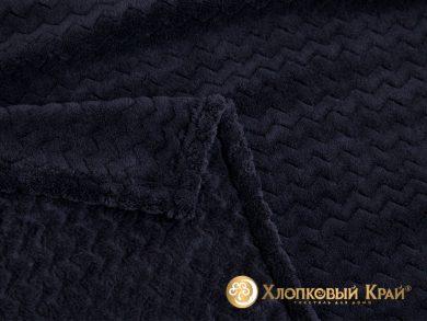 Плед велсофт Парма плюш черный, фото 2