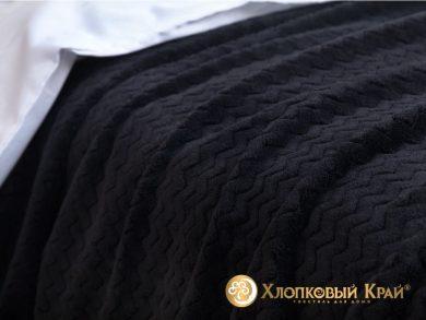 Плед велсофт Парма плюш черный, фото 3