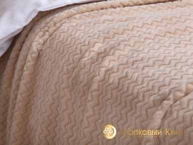 Плед велсофт Парма плюш крем, фото 3