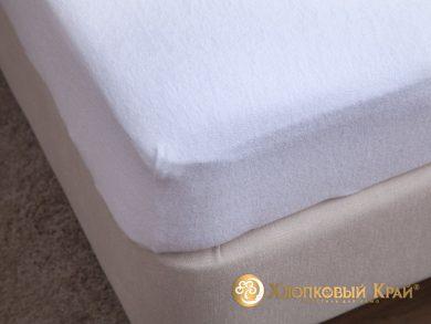 натяжная простыня на резинке Белая, фото 6